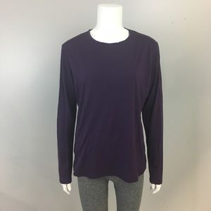 Tops - Segments 100% Merino Wool Purple Shirt